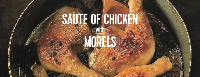 RECIPE: Saute Chicken with Morels
