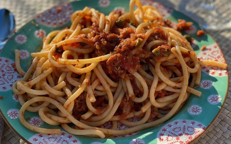 Tuna pasta sauce By Alastair Little