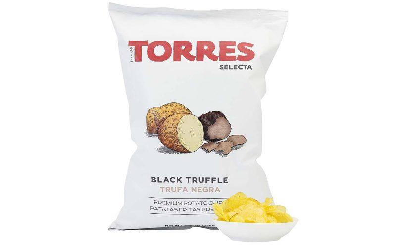 TORRES Black Truffle Potato Crisps, 125g By Alastair Little