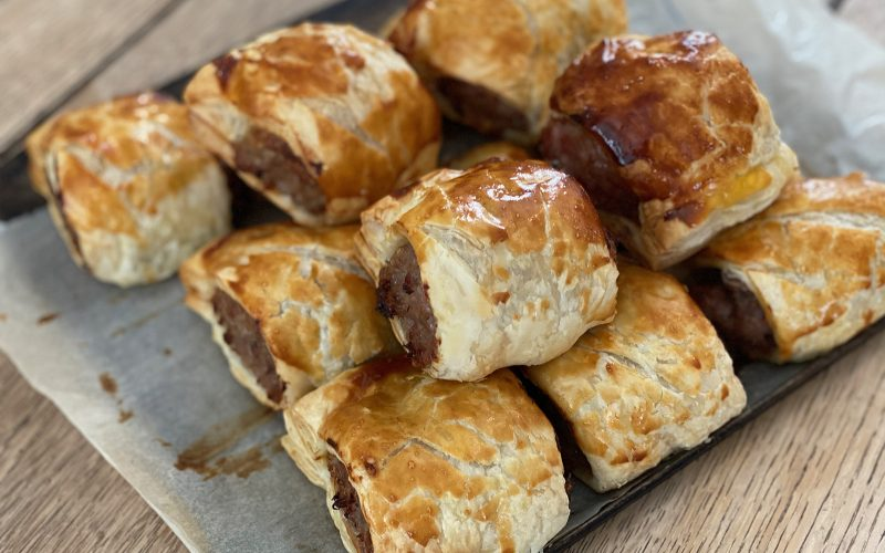 Rare breed pork & herb sausage roll - single or family pack By Alastair Little
