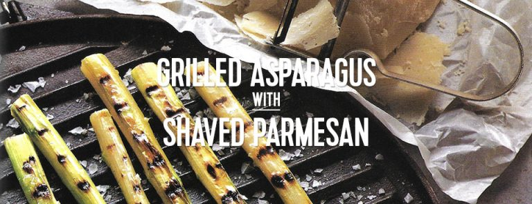RECIPE: Grilled Asparagus with Shaved Parmesan