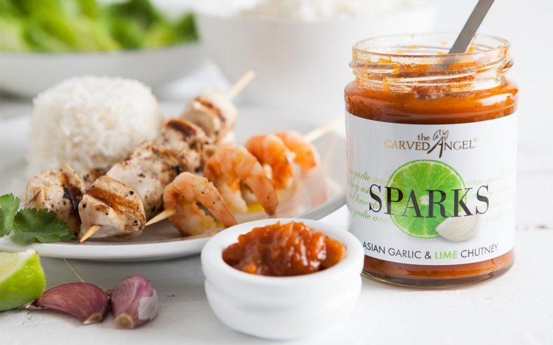 CARVED ANGEL Asian Garlic and Lime Pickle 320g By Alastair Little