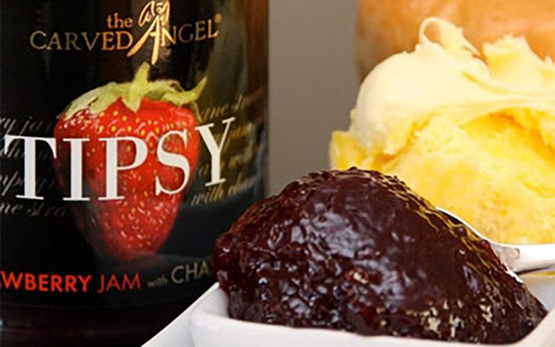 CARVED ANGEL Strawberry Jam with Champagne 320g By Alastair Little