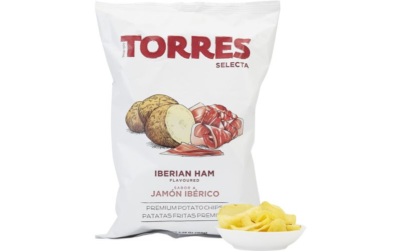 TORRES Iberico Ham Potato Crisps 150g By Alastair Little