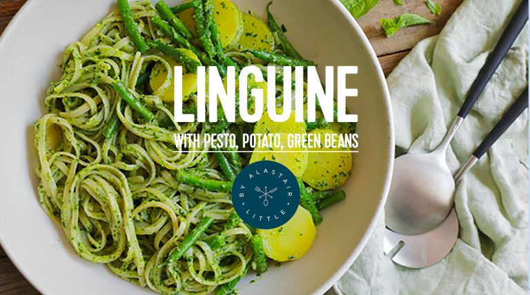 RECIPE: Linguine with pesto, potatoes and green beans