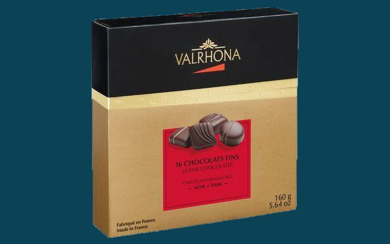 VALRHONA Gift Box - 16 Fine Dark Chocolates - 160g By Alastair Little
