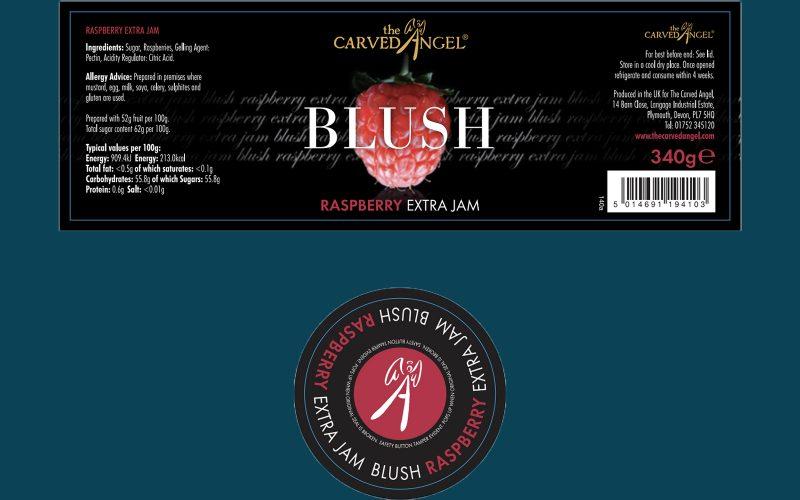 CARVED ANGEL Raspberry Jam 320g By Alastair Little